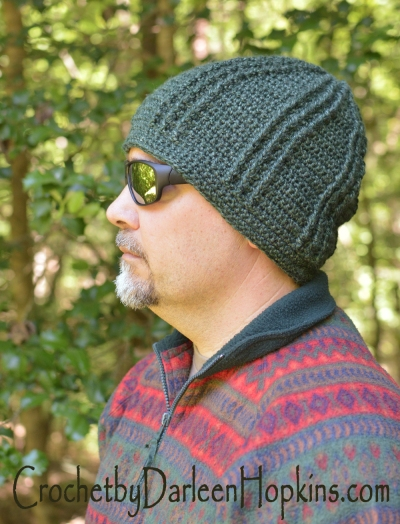 Blue Rivers crochet hat pattern for men, women and kids, #CbyDH