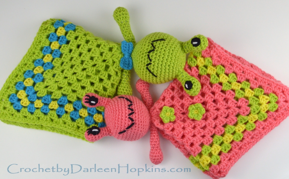 crochet pattern baby lovey alien by Darleen Hopkins #CbyDH