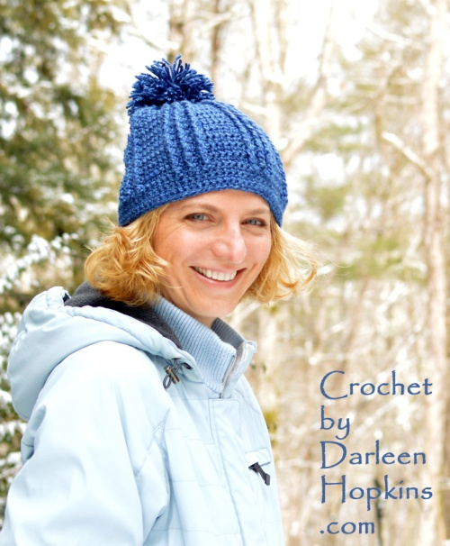 Blue Rivers Hat, crochet pattern by Darleen Hopkins #CbyDH