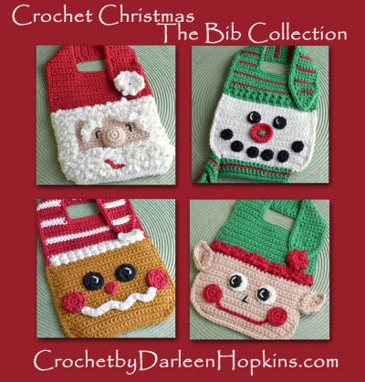 Christmas Bib Set Crochet Pattens by Darleen Hopkins