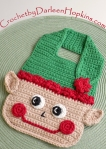 Elf Baby Bib crochet pattern by Darleen Hopkins