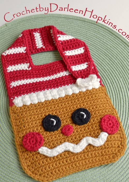 Bib Gingerbread Baby Crochet By Darleen Hopkins