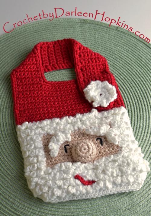 Santa Baby Bib crochet pattern by Darleen Hopkins #CbyDH