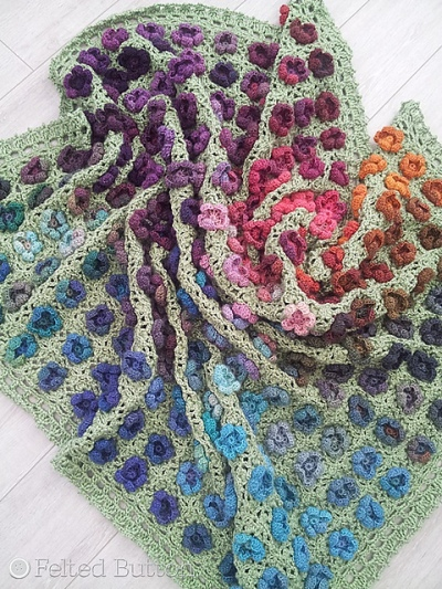 Monet's Garden Throw, crochet pattern by Susan Carlson