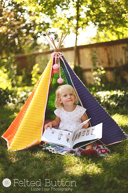 Toddle Tee Pee crochet pattern by Susan Carlson