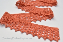 Tiffany Scarf lace crochet pattern by Darleen Hopkins #CbyDH