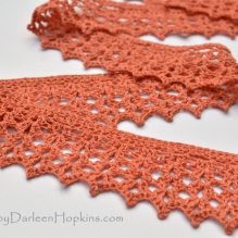Tiffany Scarf lace crochet pattern by Darleen Hopkins #CbyDH