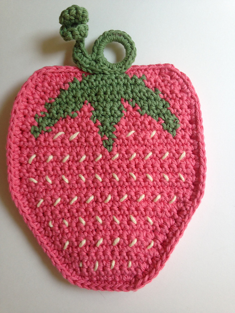 strawberry potholder crochet