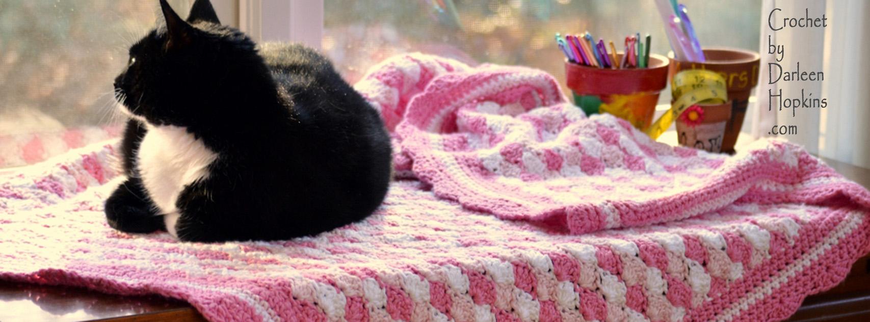 Shells of Love baby blanket crochet pattern by Darleen Hopkins