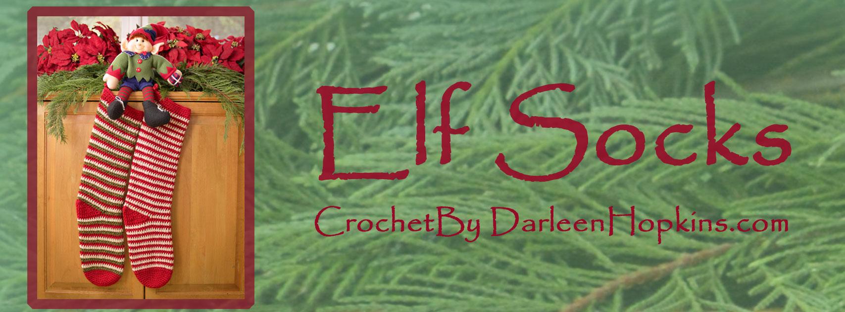 Christmas stocking crochet pattern by Darleen Hopkins