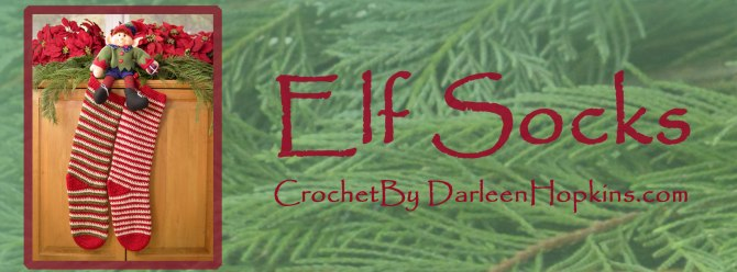Christmas stocking crochet pattern by Darleen Hopkins