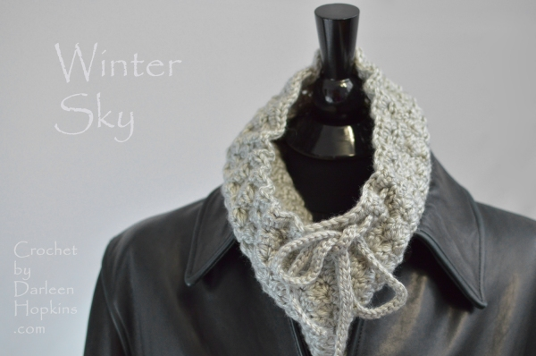 Winter Sky Cowl crochet pattern by Darleen Hopkins