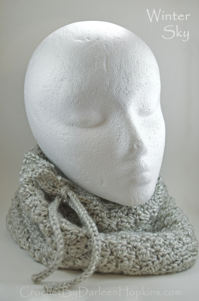 Winter Sky Cowl crochet pattern Darleen Hopkins