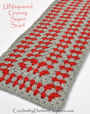 UNsquared-Granny-Super-Scarf-crochet-pattern-by-Darleen-Hopkins #cbydh