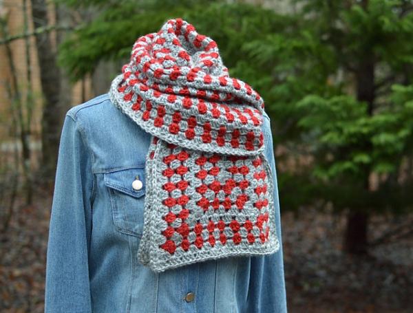 UNsquared granny scarf