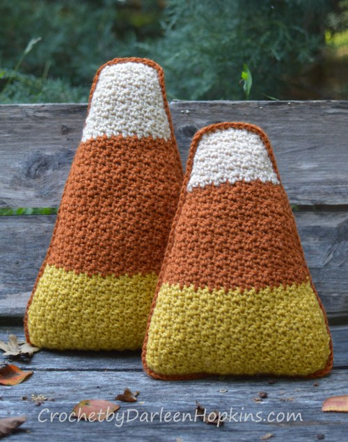 candy corn crochet pattern by Darleen Hopkins