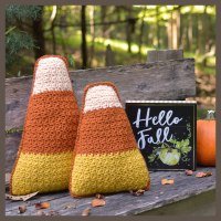 Candy corn, havest corn crochet pattern by Darleen Hopkins