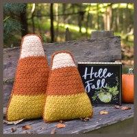 Candy corn, harvest corn crochet pattern by Darleen Hopkins