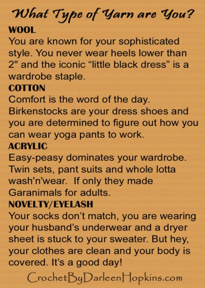What type of yarn are you?