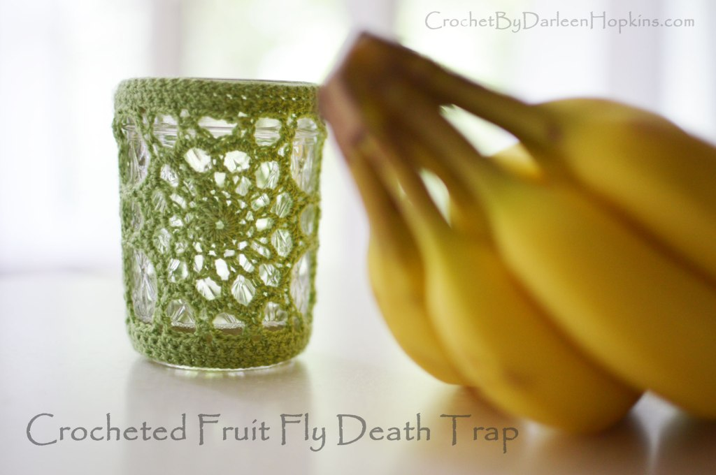 Crochet pattern for a fruit fly trap
